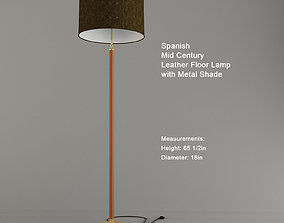 3D model Torchere Spanish Mid Century Leather