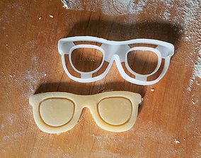Glasses cookie cutter 3D print model