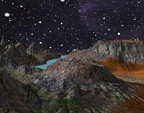 Cratered Terrain Model 3D