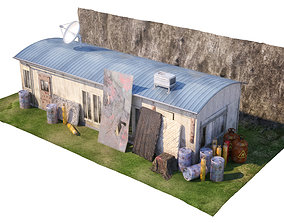 3D model Wooden Barracks military