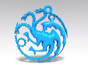 3D printable model GOT targaryen keychain