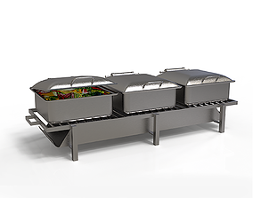 Stainless Steel Chafing Dishes 3D model