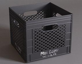 Plastic Milk Crate 3D