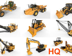 10 Industrial vehicles High Quality 3D model
