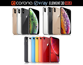 Apple iPhone Xr and Xs and Xs MAX Collection 3D model