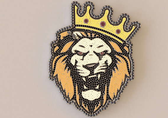 lion king iced out pendant