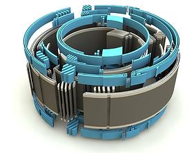 high tech ring tube 3D model