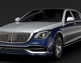 3D Mercedes Maybach S 650 X222 2019
