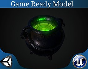 3D model game-ready Pot with magic potion
