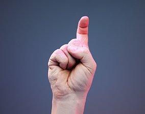Finger Alphabet Z 3D asset