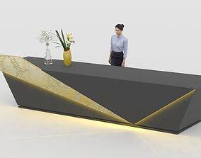 3D asset Reception Counter