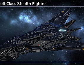 Spaceship Stealth Fighter Werewolf 3D asset