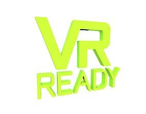 VR Ready Symbol v1 003 3D model