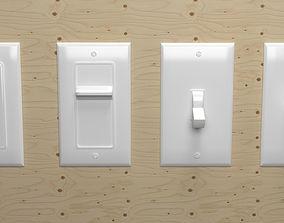 Light Switch US 3D model