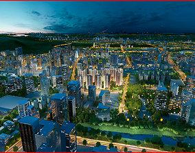 Modern City Animated 119 3D model
