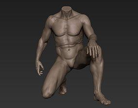 3D model Male Full Body Sculpt Pose 7
