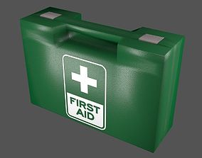 First Aid Kit Plastic Green 3D asset