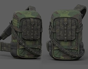 3D asset Backpack military combat soldier armor scifi 2
