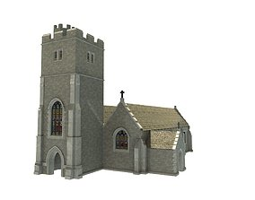 Old Church 3D asset game-ready