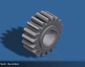 18-Tooth Spur Gear 03 3D printable model