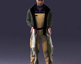 Fisherman 1102 3D model