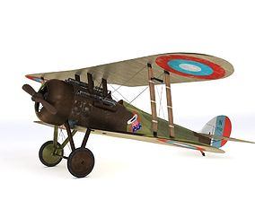 Nieuport 28 C1 French WW1 biplane fighter 3D