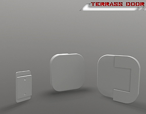 Terrace door handle building-component 3D print model