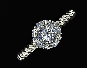 Ring diamond Jewelry ring Gold 3D