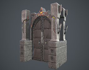 Boss Door stylized videogame asset realtime