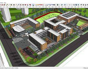 Sketchup school K5 3D model