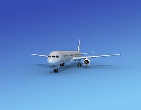 Boeing 757-300 Bare Metal 3D model