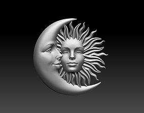 sun moon 3D printable model miniatures