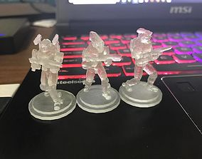 3D print model 28mm Sci-Fi PMC Squad