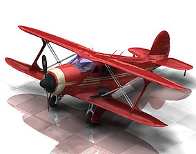 Beechcraft G17S Staggerwing Poser Vue 3D model