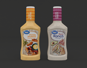 Great Value Honey Mustard Dressing and Dip 3D model