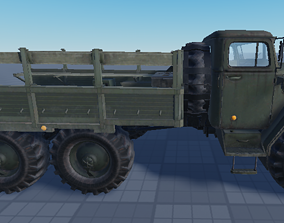 3D model rigged Military Truck