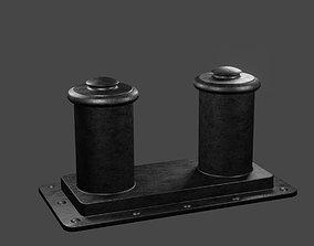 3D asset RMS Titanic Forecastle bollard free download