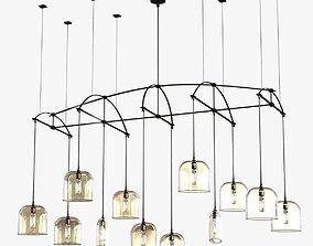 Holly Hunt Bow chandelier 3D model