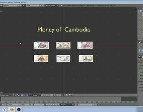 Paper - money models of Cambodia 3D asset