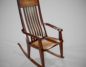 3D asset PBR Rocking Chair