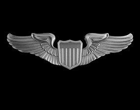 US Army Air Force Pilot Wings Badge 3D model