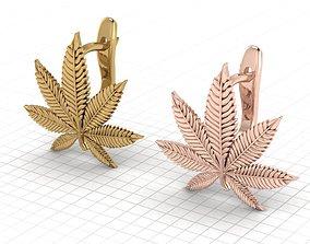 Hemp leaf marijuana leaf 3D printable model
