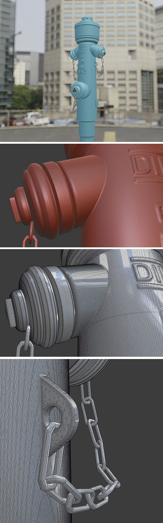 Fire Hydrant VAG -2- High-Poly Version