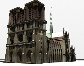 cathedral NotreDame 3D model