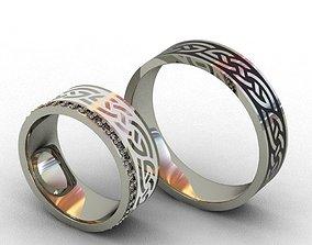 Wedding cufflinks 3D print model