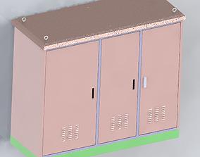 Outdoor Cabinet 1820x2050x800 3D model