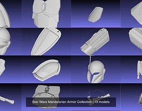 3D model Star Wars Mandalorian Armor Collection