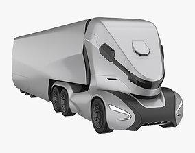 3D model Self-Driving Truck Concept