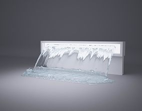 3D model Fountain real flow animated