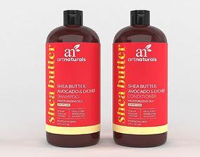 ArtNaturals Shea-Butter Shampoo and Conditioner 3D